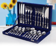 steel cutlery set hand made cutlery set in gift box