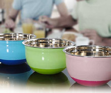 Extra Deep Mixing Color Bowl W Silicone Base