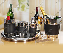 Bar Set With Faux Leather