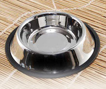 Non Tip Pet Bowls With Anti-Skid Ring Side Window