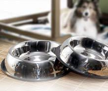 Belly Non Tip Pet Bowls With Anti-Skid Ring