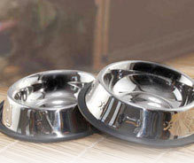 Non Tip Pet Bowls With Anti-Skid Ring Side Embossed