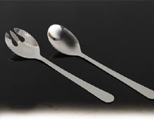 Steel Salad Server Set O S Salad Server